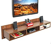 Product Dimensions: Length ( 125Cm) x Breadth ( 30Cm) x Height( 30Cm). Made of Particle Board (High grade prelam engineering wood with natural wood grain finish.) Product Color: Walnut, Product Style: Contemporary | Weight: 11 Kgs | Ideal TV Size- Up...