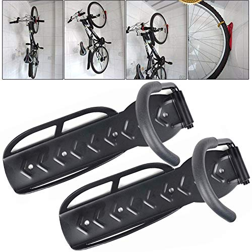 Stanz (TM) 2PCS Black MTB Road Mountain Bicycle Bike Home Storage Rack-Wall Mounted Hanger Hook