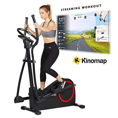 Care Fitness - Ellipsentrainer CE-685 - Crosstrainer mit 24 Trainingsprogrammen - Motorisierter Widerstand - Konsole mit LCD-Display - Kinomap App kompatibel über Bluetooth
