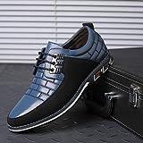 WFQGZ Zapatos Deportivos Zapatos Planos para Hombres Zapatos para Hombres Adultos Zapatos náuticos-Azul_6.5