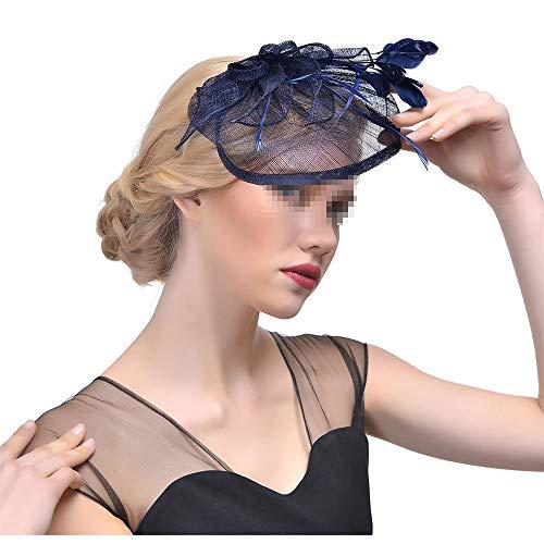 Chapeau De Fascinators Fascinator en épingle à cheveux chapeau haut de forme chapeau de voile de voile de mariage chapeau de soirée de fête chapeau de thé, photo, partie, envoyer cadeau petite amie Po
