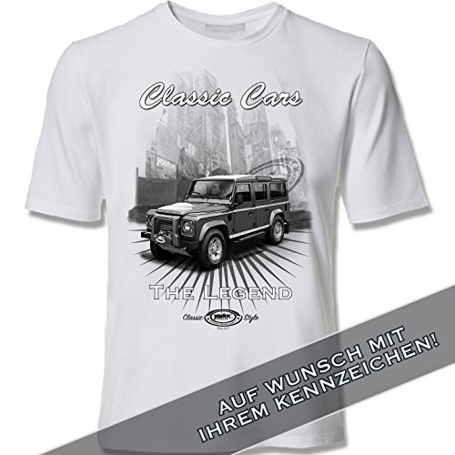 youtex Land Rover Defender Black and White T Shirt (XXL)