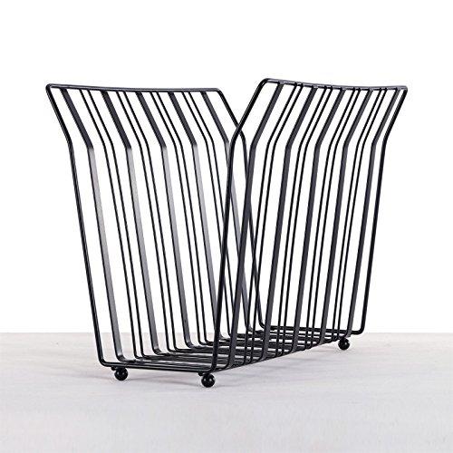 Porte-journaux moderne en métal, 33 cm, noir, support de magazines