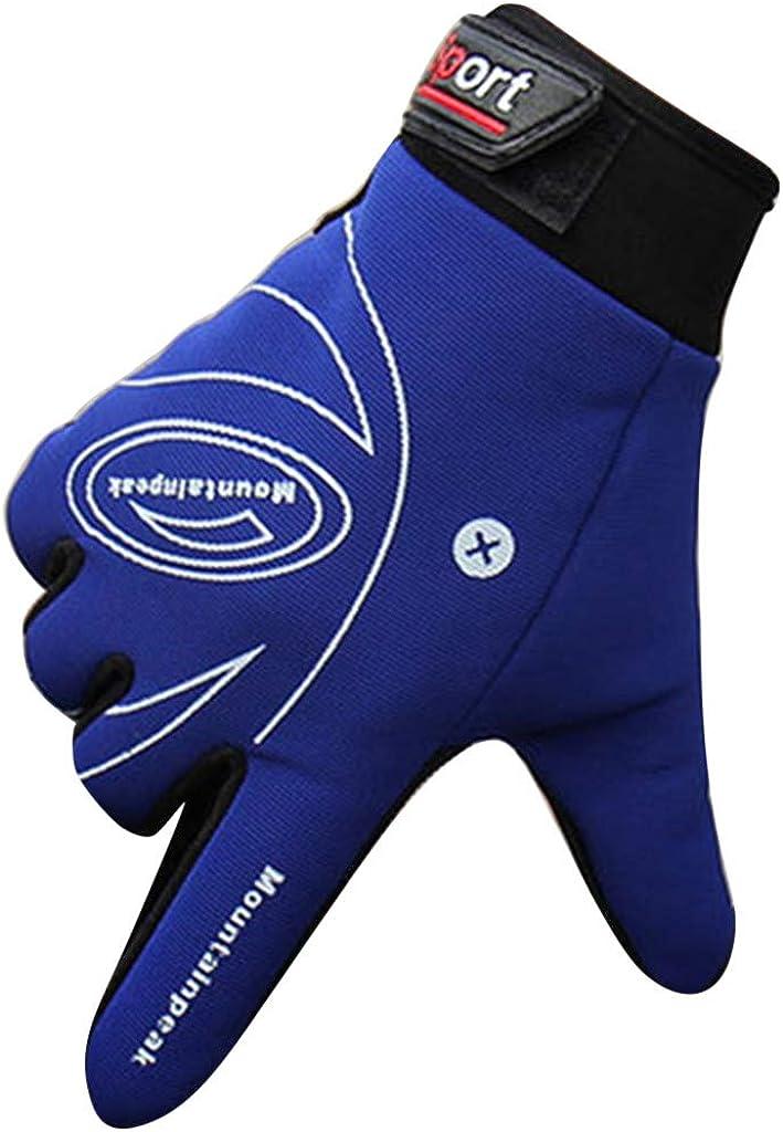 Men Gloves Gym Training Sport Fitness Half Finger Windproof Leather Gloves