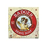 Badger - Shaving Soap Puck, Aloe Vera & Coconut Oil with Bergamot Essential Oil, Natural Shave Soap Puck, Mens Shaving Soap Bar, Shaving Cream Puck, 3.15 oz Bar