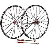 Mountain Bike Wheelset, 26/27.5 / 29 pulgadas, MTB Bicicleta Rueda trasera de doble pared de aleación de aluminio de la aleación de la llanta de freno de fibra de carbono Hub de fibra de carbono Lanza