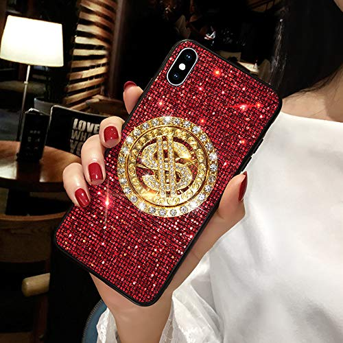 Funda para teléfono móvil Apple X 11Pro Dollar 6S Silicona Todo Incluido Promax Anti-caída 6plus /6sp (5.5 pulgadas)/Rojo