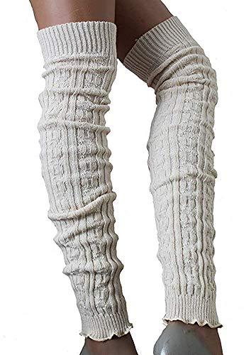 SC-Strümpfe Damen Wollstulpen extra lang Ecru one Size