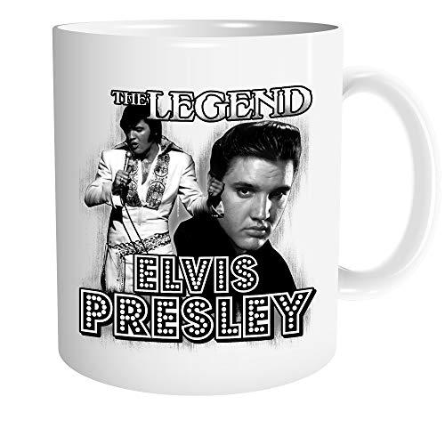 Uglyshirt89 Elvis Presley Tasse | Kaffeetasse Teetasse Geschenk Rockabilly The King Musik Vintage | M2