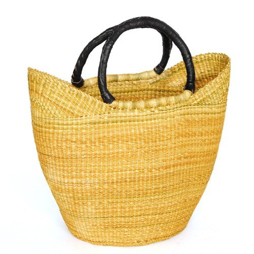 Einkaufskorb Shopper   Bolga Ghana   Steppengras   Fair Trade (Natur)