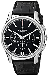 Zenith Men's 032110400.22C El Primero Analog Display Swiss Automatic Black Watch Review and Now and review