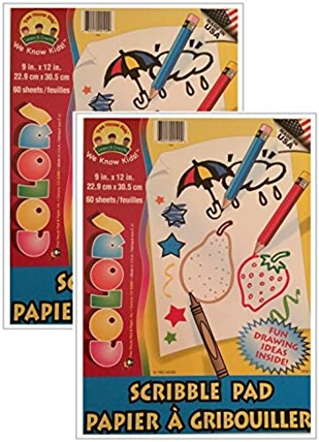 Kids Scribble and Doodle Sketch Pad Farbeing Books 60 Sheets by Darice