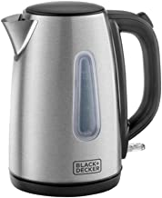 Black+Decker JC450-B5 1.7 Litre Concealed Coil Stainless Steel Kettle - Silver -, 2 Year Warranty
