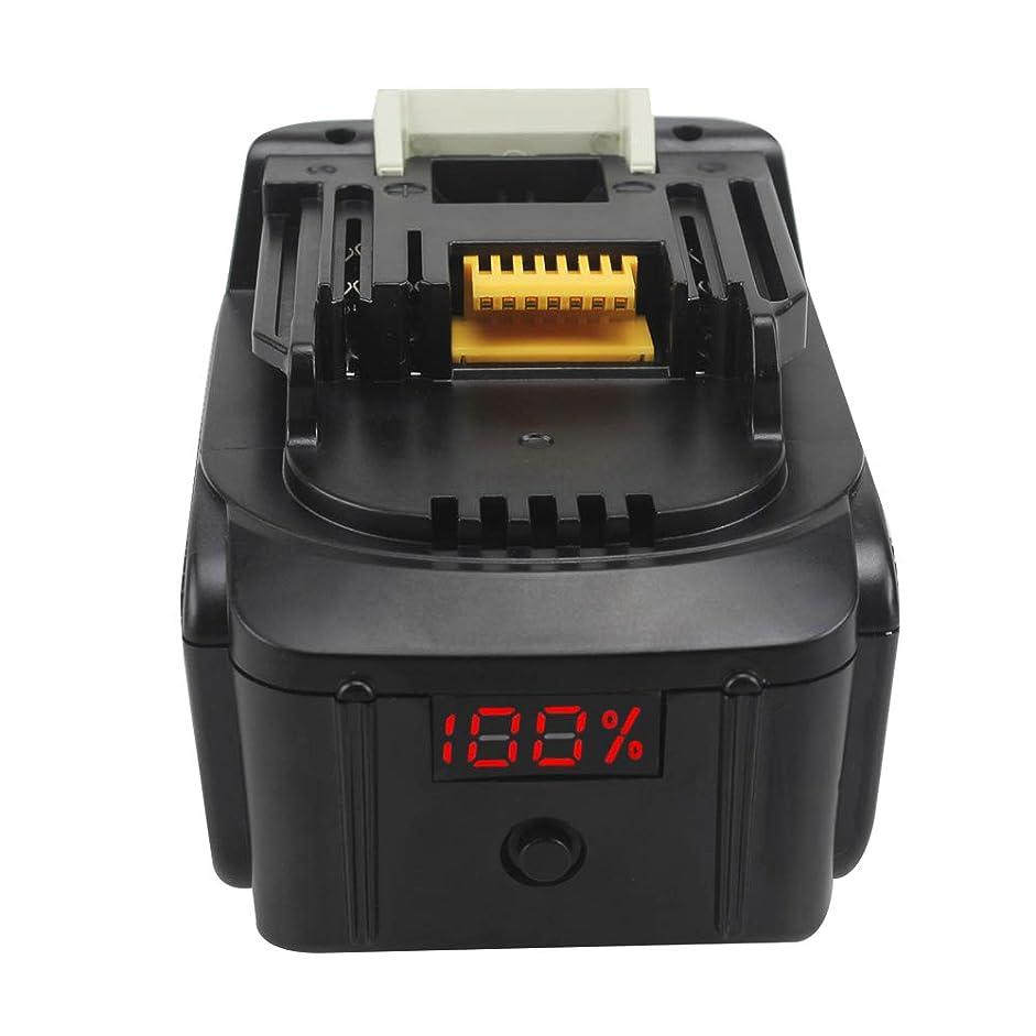 特徴づける落胆させる朝ごはんマキタ BL1460 14.4v 互換 バッテリー 6.0Ah Makita 14.4V 6000mah BL1430 BL1450 リチウム イオン 電池 パーセンテージLED残量表示 一年保証