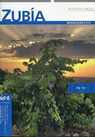 ZUBÍA. MONOGRÁFICO 16-17. SOBRE LA VIÑA Y EL VINO. Coordinado por Enrique García-Escudero. Cont.: Influencia del pH de la uva en la calidad del vino. Evolución de los vinos de Tempranillo durante la