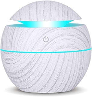 K KBAYBO Aroma Essential Oil Diffuser, 130ml USB Ultrasonic Cool Mist Humidifier with LED Night Light for Office Home Bedr...