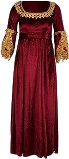 HomeMals Long Maxi Dresses Retro Gothic Court Dress Stitched Vintage Dress 50s Dresses Cosplay Costume