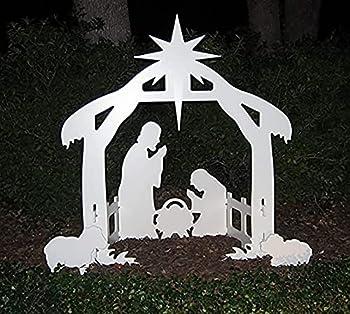 Christmas Jesus Scene Inserting Card Plastic Board Holy Family Nativity Scene Outdoor Yard Decoration Christmas Decorations Nativity Scene  A