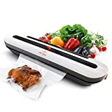 Vacuum Sealer Machine Automatic Air Sealing System for Food Storage with 10 Heat Seal Bags Sous Vide...