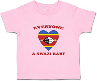 Custom Baby & Toddler T-Shirt Everyone Loves Swazi Cotton Boy Girl Clothes