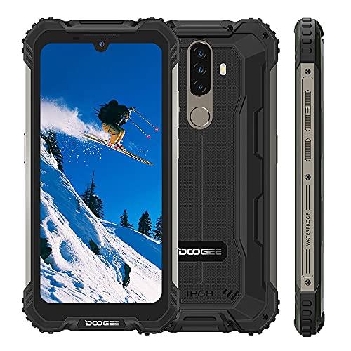 Móvil Libre Resistente DOOGEE S58 Pro, Android 10 IP68 Telefono Antigolpes, 5180mAh Batería,6GB +64GB, Pantalla 5.71, 16MP+16MP, NFC, GPS, Dual SIM 4G, Negro