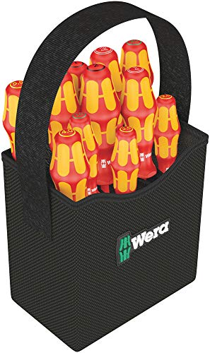 Wera Schraubendreher Set im textilen Köcher Kraftform 2go 100, 11-teilig, 1 Stück, 05004310001