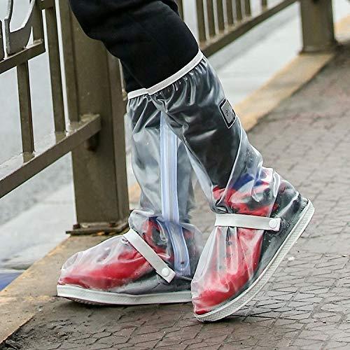 Walker Valentin Chanclos IBHT Exterior de Alto Tubo Impermeable Espesado Snowproof Lluvia Zapatos Tamaño: L (Negro) Transparent