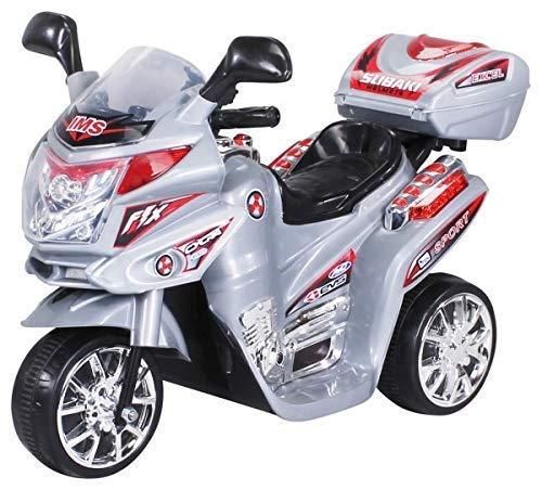 Actionbikes Motors Kinder Elektroauto Motorrad C051 Elektro Motorrad Kinderfahrzeug (Silber)
