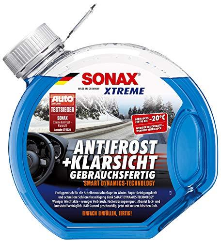 SONAX Xtreme AntiFrost+Klarsichtsichtgotowy do użycia do -20° C (3 l), szybki, bez smug i superskuteczny środek do czyszczenia szyb na zimę   Nr art. 02324000