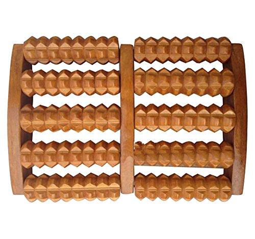 Hölzerne Fußstütze Fußmassage Rubbing Row Roller Hölzerne Massage-5 Row/Red