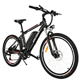 ANCHEER Upgraded Electric Mountain Bike, 250W 26'' Electric Bicycle with...