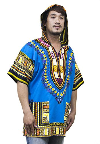Lofbaz Unisex Dashiki Tradizionale Africana Hippy Boho Design #1 Verde M