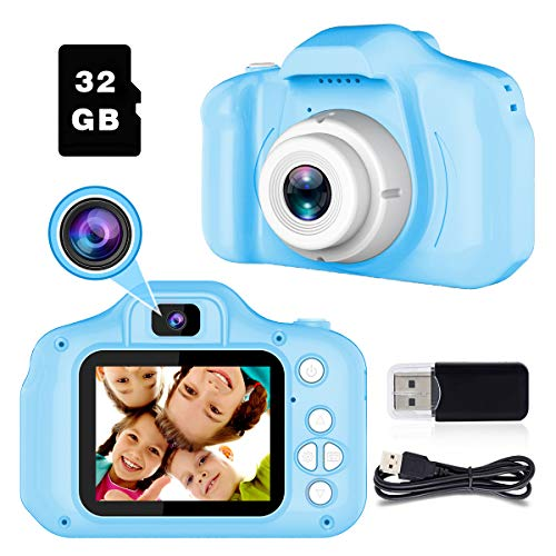 BAISIQI Cámara Digitale Selfie para Niños Juguetes para Niños Chicos de 3-8 Años Cámara Fotos Digital 1080P Camara de Fotos para Niñito Bebé Vídeo Grabar Electrónico Juguete Regalos de Cumpleanos