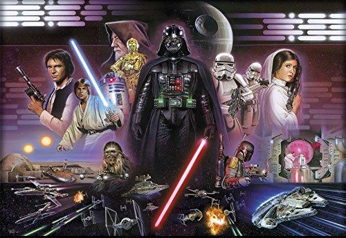 empireposter Star Wars Darth Vader Collage - Disney Foto-Tapete - Wallpaper - Mural 368x254cm - 8-teilig. Beigelegt sind eine Packung Kleber und eine Klebeanleitung.