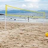 [page_title]-youngfate Volleyballnetz Mit Ständer Für Garten Volleyball-Netz/Badminton-Netz Tennisnetz Tragbar Falten Einstellbar Geeignet Für Strand- Und Outdoor-Sportarten Im Hinterhofpark