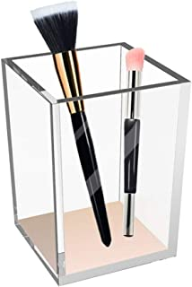 Makeup Brush Holder Cup Cosmetic Organizer Desktop Pencil Pen Holder Storage Chic Acrylic Cup for Beauty Vanity Home Bedro...