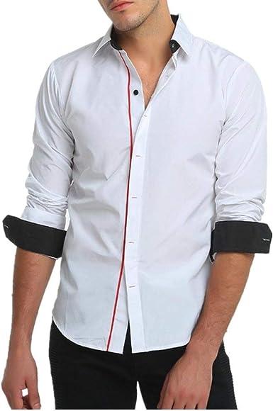 Saoye Fashion Camisa De Hombre/Camisa De Cuello De Ropa ...
