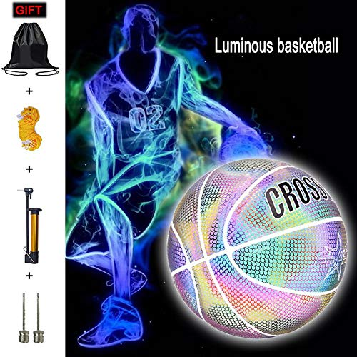 Great Deal! stonishi Everygo Light Up Basketball Luminous Basketball Night Game Street PU Glowing Re...