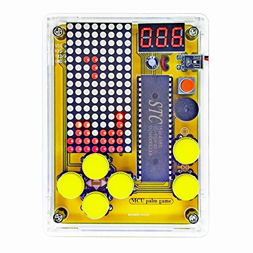 DIY Soldering Project Game Kit Retro Classic Electronic Soldering Kit, Snakes/Race Cars/Space Invaders/Slot Machine with Clear Acrylic Case
