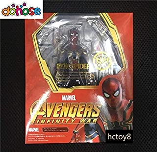 Spiderman Cartoon Avengers: Infinity War Action Figure S.H. Figuarts Bright Gold Spider Mark Iron Model