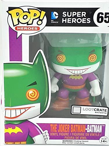 Con DC en POP! Forma de vinilo. Contiene Joker Batman. La figura perfecta para sentarse en su escritorio en el trabajo o en casa. Altura de pie: 8,9 cm. Producto oficial de DC Comics.