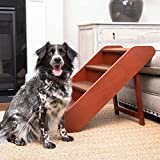 PetSafe CozyUp Folding Wood Pet Steps - Dog and Cat Stairs - Lightweight Durable Wooden Frame Supports up to 200 lb - Side Rails and Non-Slip Feet Provide Added Security - 20 inches