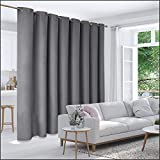 Deconovo Privacy Room Divider Curtain Thermal Insulated Blackout Curtains Screen Partition Room Darkening Panel for Apartment, Studio, 15ft Wide x 8ft Tall 1 Panel Dark Grey
