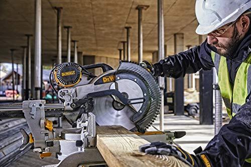 DeWalt Paneelsäge 1675W DWS780 inkl. Zubehör – Mit 305×30 mm HM-Sägeblatt ideal für den Innenausbau – Hohe Schnittkapazität & LED Schnittlinien Anzeige - 6