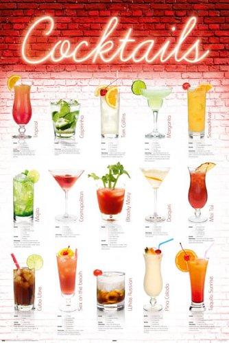 Poster Cocktail Rezepte in deutsch - Größe 61 x 91,5 cm - Maxiposter