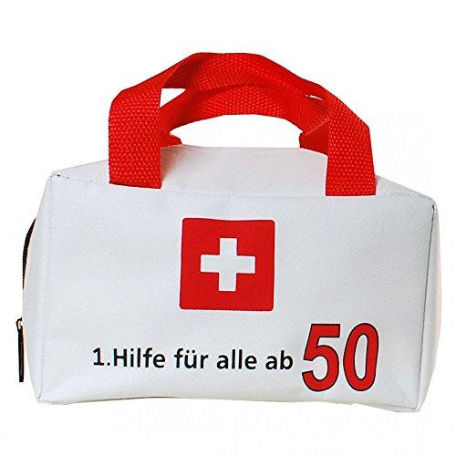 Geschenk Tasche Erste Hilfe 50 Geburtstag Geldgeschenk Party Scherzartikel 11x19cm