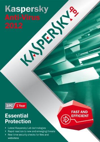 Kaspersky antivirus 2012 (3 postes, 1 an) [import anglais]