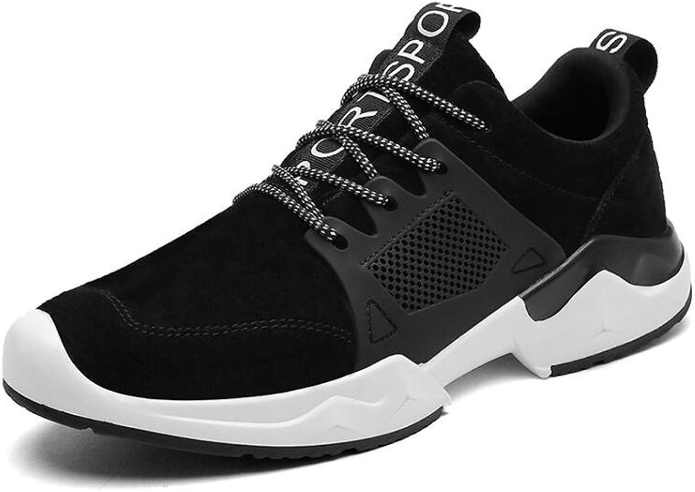 CJC shoes Unisex Boys Men's Trainers Breathable Sneakers Soft Climbing Hiking shoes Sports (color   BLACK, Size   EU39 UK6.5)