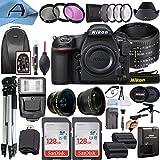 Nikon D850 DSLR Camera 45.7MP CMOS Sensor with AF FX NIKKOR 50mm f/1.8D Lens, 2 Pack SanDisk 128GB Memory Card, Backpack, Full Size Tripod & A-Cell Accessory Bundle (Black)