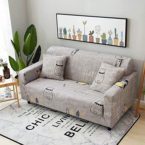 WXQY Funda de sofá elástica para Sala de Estar Moderna Funda de sofá de Esquina Modular Funda de sofá Funda de protección para Silla Funda de sofá A18 1 Plaza